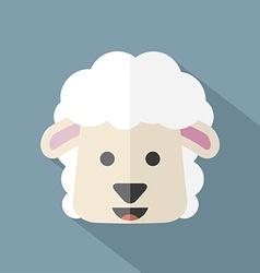 Modern Flat Design Sheep Icon vector image