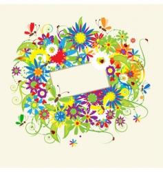 summer dreams greeting card vector image