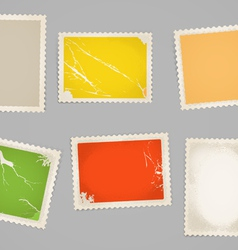 Vintage color post stamps template clip-art vector image