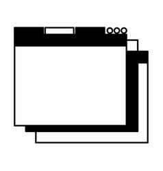 black icon web window vector image