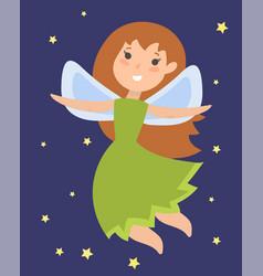 fairy princess adorable character imagination vector image