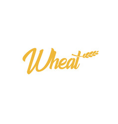 grain wheat logotype barley icon oat logo rice vector image