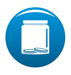 save money icon blue vector image