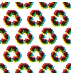 Seamless recycle background pattern vector image vector image