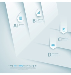 Simply minimal infographic template design vector image
