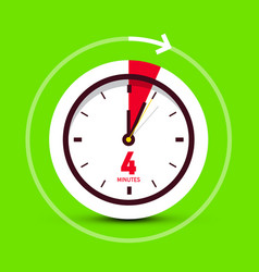 4 four minutes clock stopwatch icon vector image