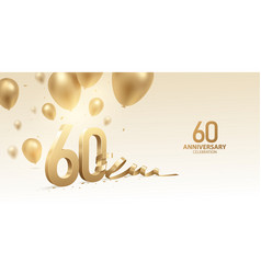 60th anniversary celebration background vector image