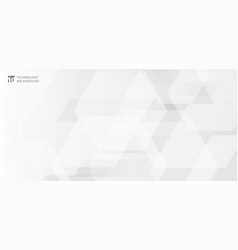 abstract banner web white and gray geometric vector image