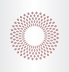 Abstract circle background design vector