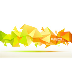 Abstract geometric 3d facet shape use vector
