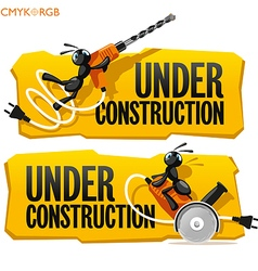 Ants Under Construction vector