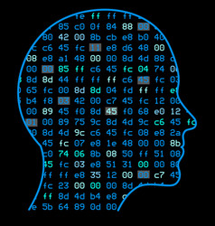 Artificial intelligence the image of a human head vector