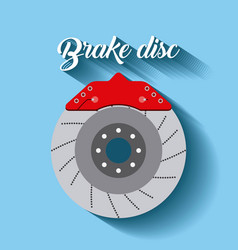 automotive industry brake disc auto part vector image