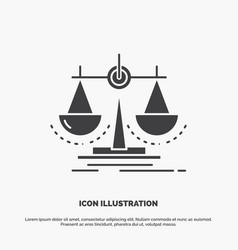 Balance decision justice law scale icon glyph vector