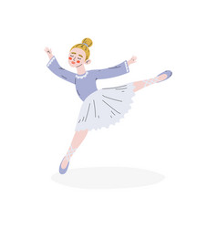 Ballerina dancing ballet dance hobby education vector