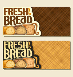 Banners for bread vector