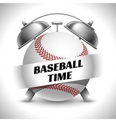 Baseball time concept vector image