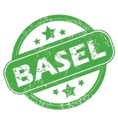 Basel green stamp vector