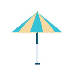 beach umbrella icon on white background for vector image