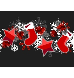 beautiful seamless christmas pattern vector image