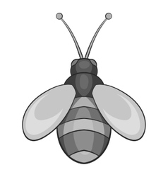 Bee icon black monochrome style vector