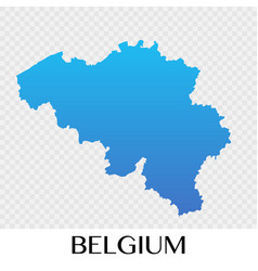 Belgium map in europe continent design vector