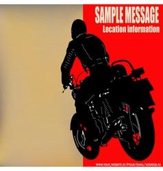 Biker background vector
