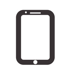 Black nice smartphone symbol icon design vector