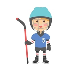 Boy hockey player vector image