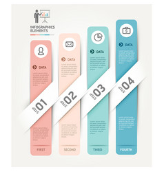 business infographics elements template vector image