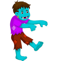Cartoon zombie walking for you design vector