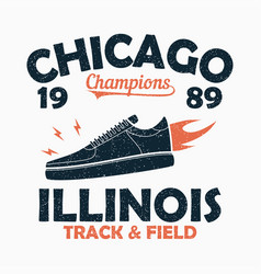 Chicago track and field print for t-shirt vector