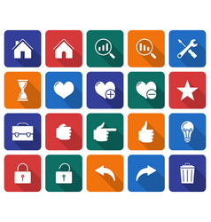 collection of rounded square icons user interface vector image