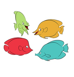 Color fishes vector image