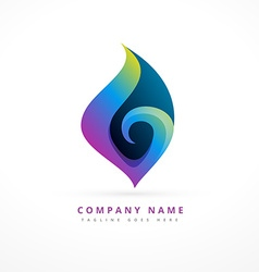 colorful abstract floral logo template design vector image