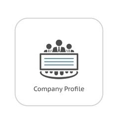 Company Profile Icon Flat Design vector