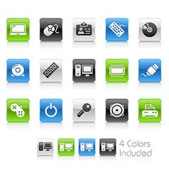 Computer Devices Clean Series vector image