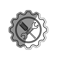 Construction tools symbol vector