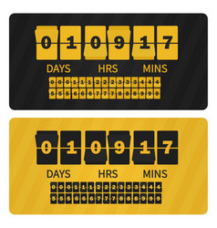 event presentation sale timer yellow black vector image