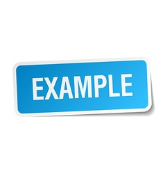 Example blue square sticker isolated on white vector