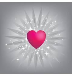 exploding pink heart vector image
