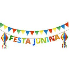 festa junina bunting vector image