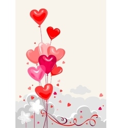 Festive heart shape balloons vector