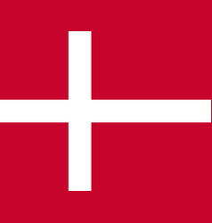 flag of denmark national symbol of the state vector image