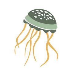 Floating jellyfish part of mediterranean sea vector