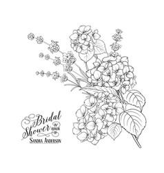 floral garland of hydrangea vector image