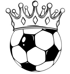 football ball soccer vector image