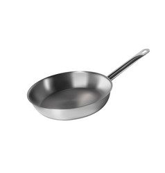 Frying pan metal kitchenware for cooking vector