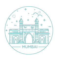 gate way of india mumbai vector image