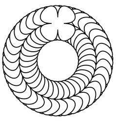 Geometric abstract mandala spirally geometric vector